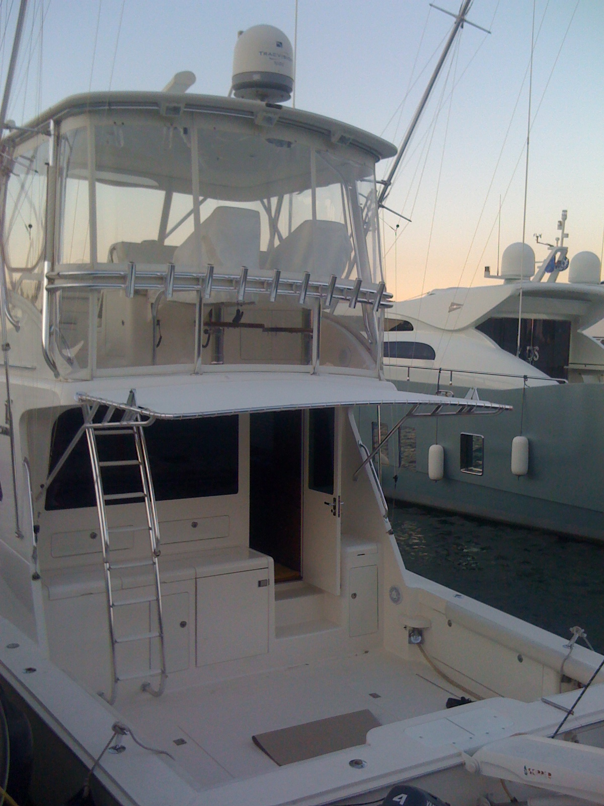 Plastic Light Covers >> Cabo 48 Flying Bridge, Back awning, seat & dashboard covers.