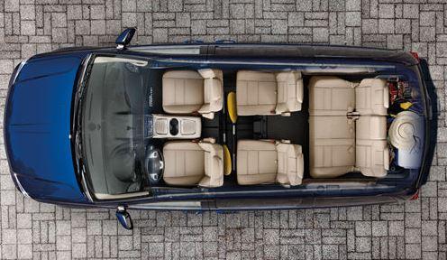 Three Rows Minivan Leather Seats