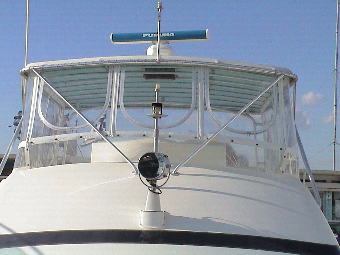 Bertram 50 Flying Bridge Enclosures with Weblon® Regatta® &  STRATAGLASS™