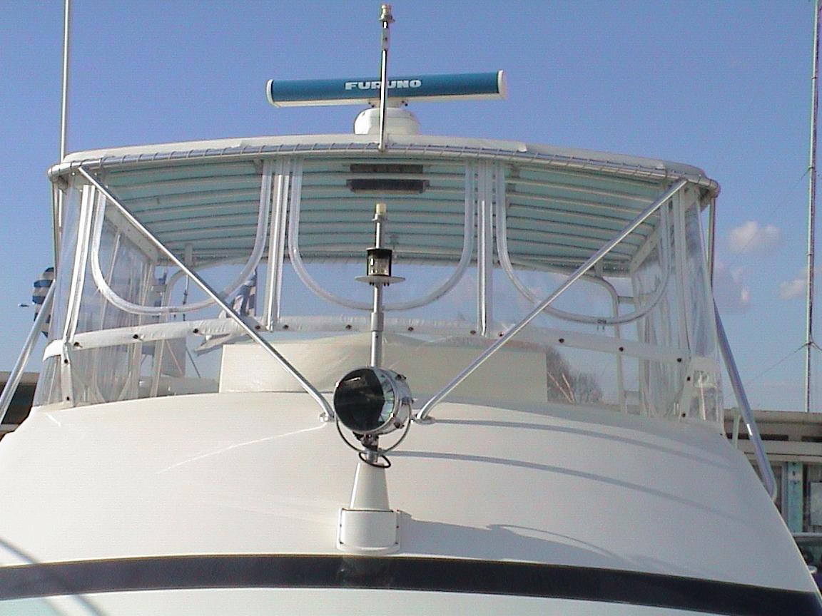 Bertram 50 Flying Bridge Enclosure with Weblon® Regatta® &  STRATAGLASS™
