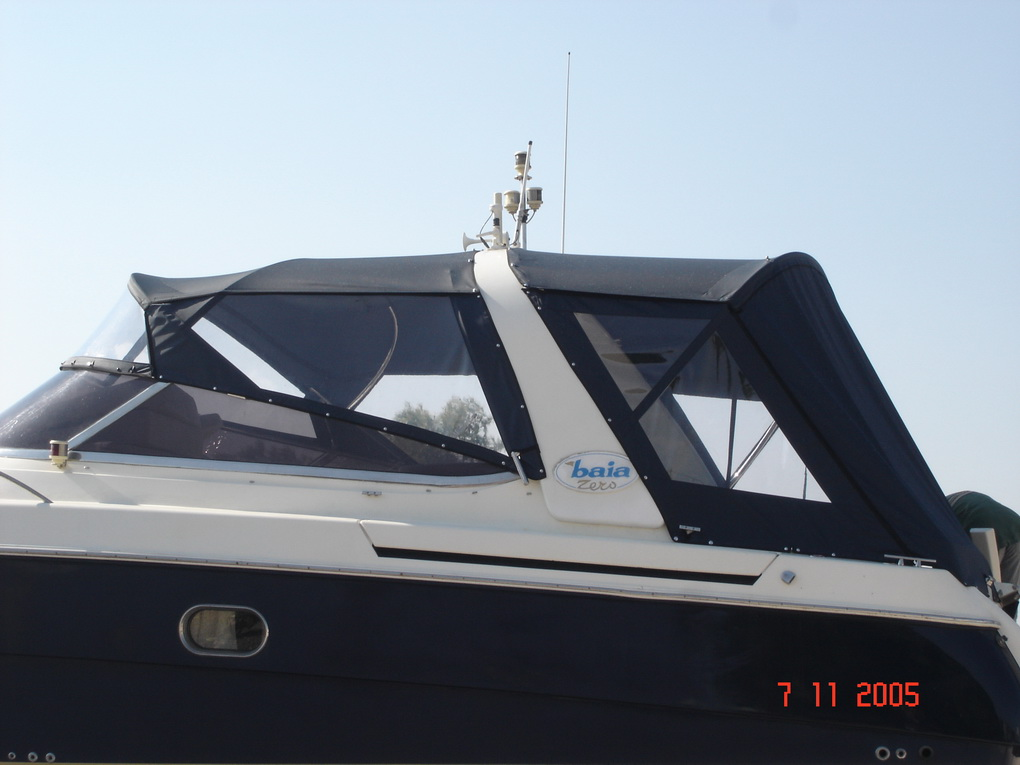 Bimini Top & Camper with removable Curtains around