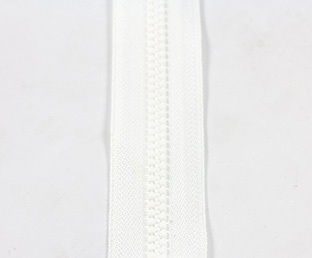 "#5VS YKK Vislon®  Chain Tape width is approximately 1 1/8"", White."