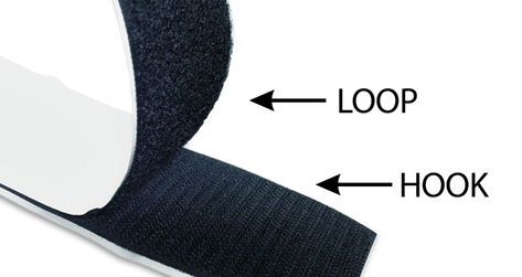 """SELF ADHESIVE HOOK-LOOP: 1, 3/16"""" (30mm) Hook - Loop"""
